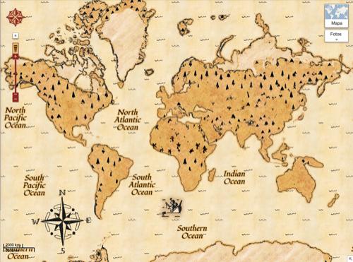 Mapa del tesoro de Google