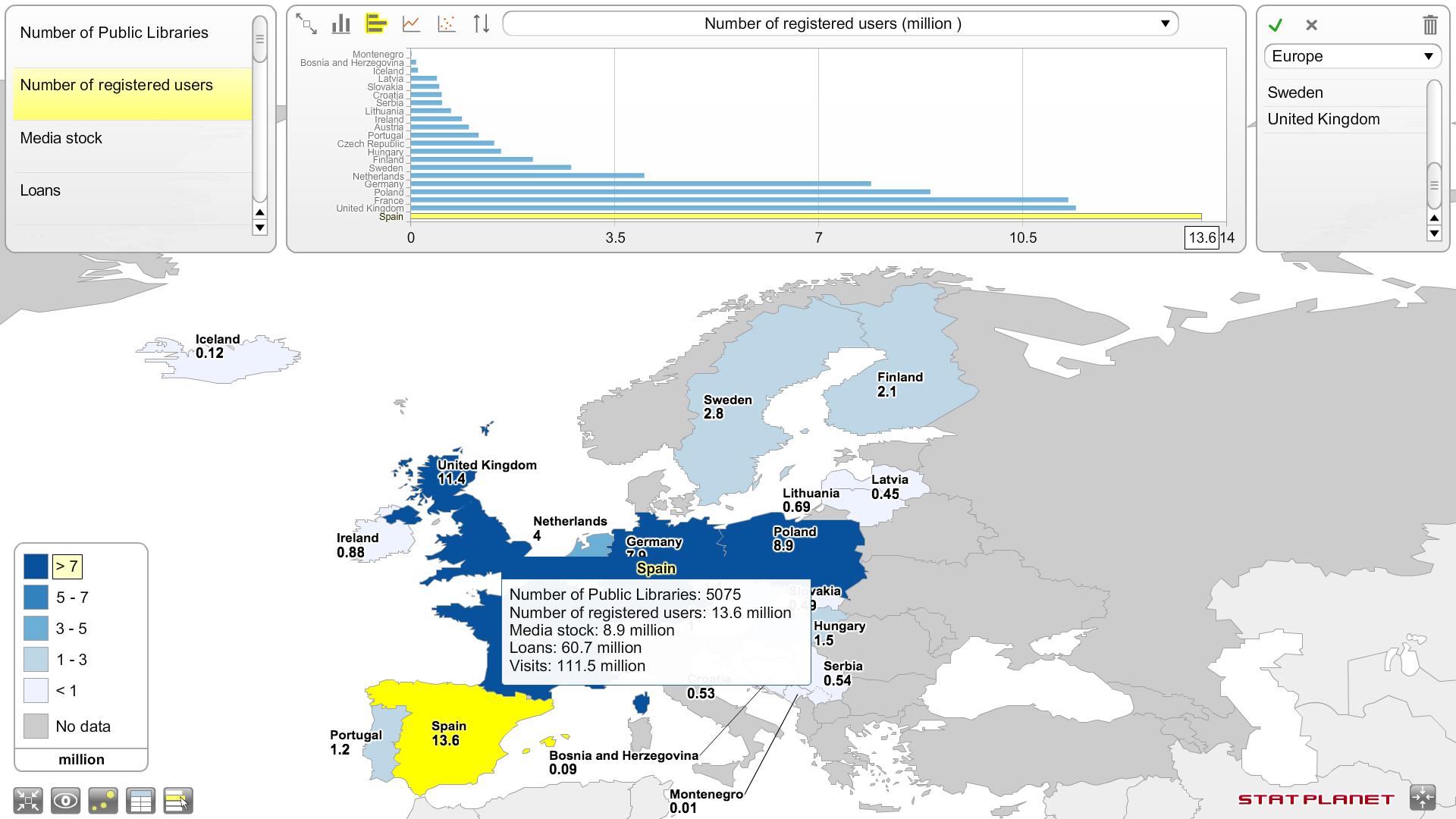 España en cabeza en número de socios  de bibliotecas públicas